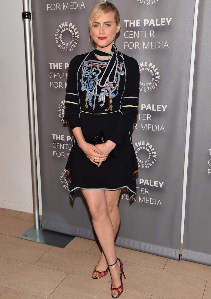 Taylor Schilling, 'Orange Is The New Black' Star, Wears Peter Pilotto To Paley Center Event