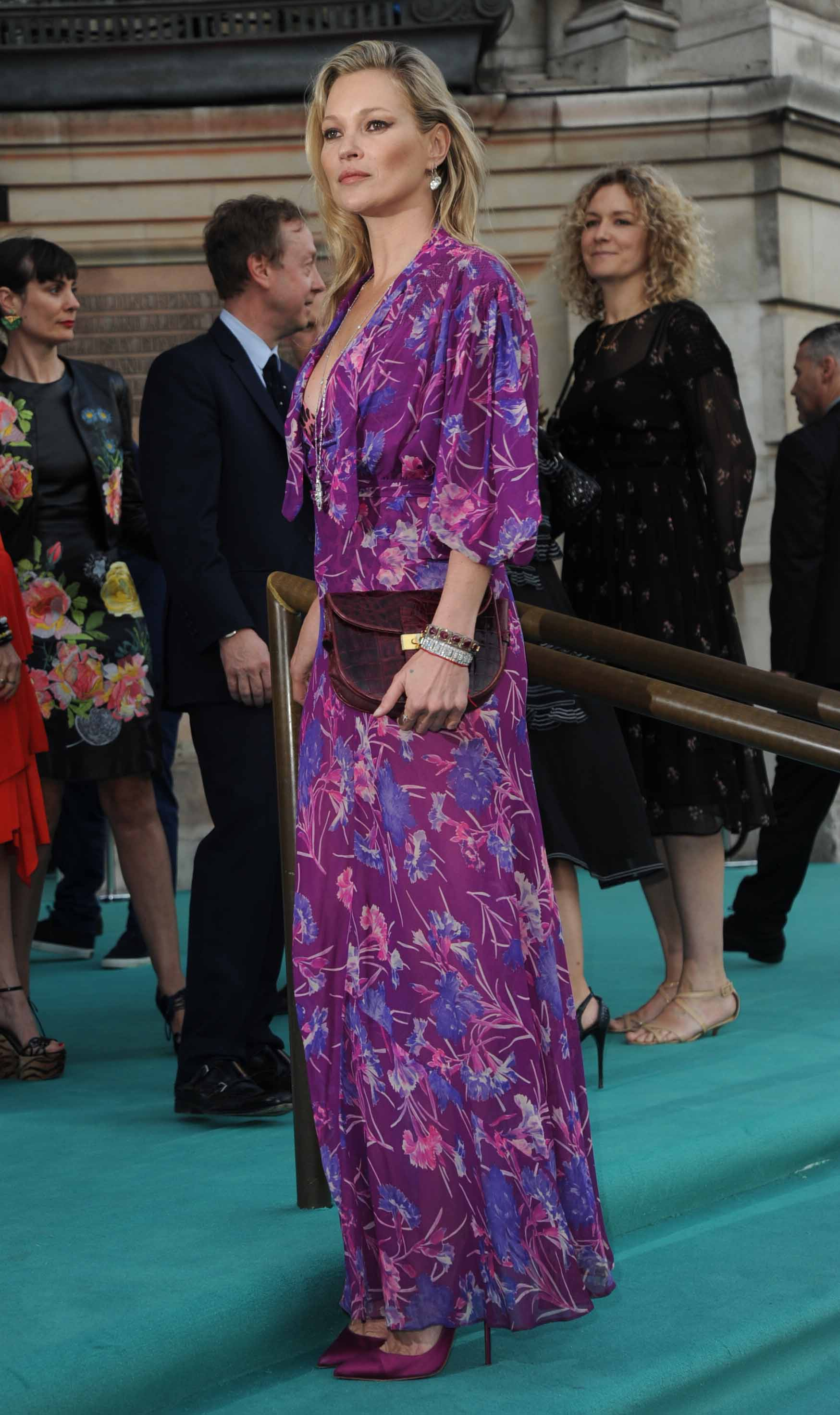 Get The Look: Kate Moss Wows in Floor-Length Floral Dress at the Victoria and Albert Museum Summer Party