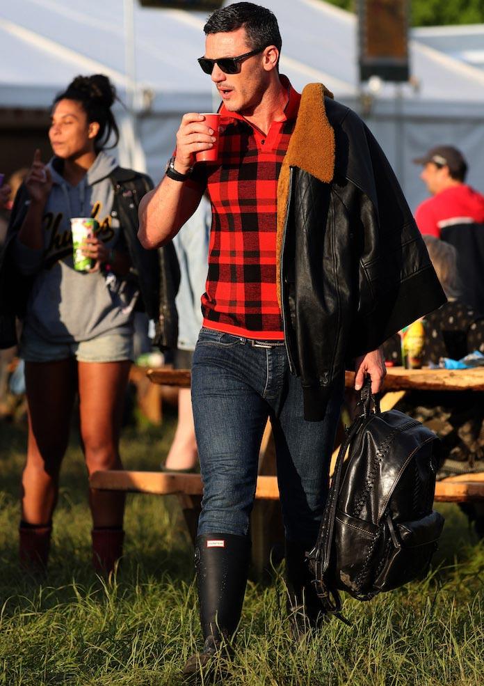 Luke Evans Wears Coach At Glastonbury