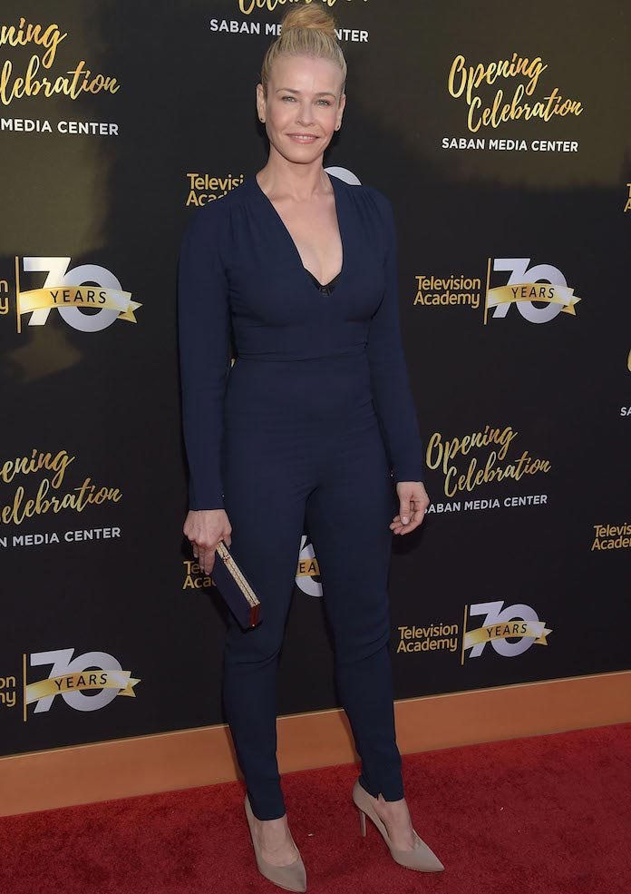 Chelsea Handler Rocks Navy Jumpsuit To Television Academy's 70th Anniversary Gala