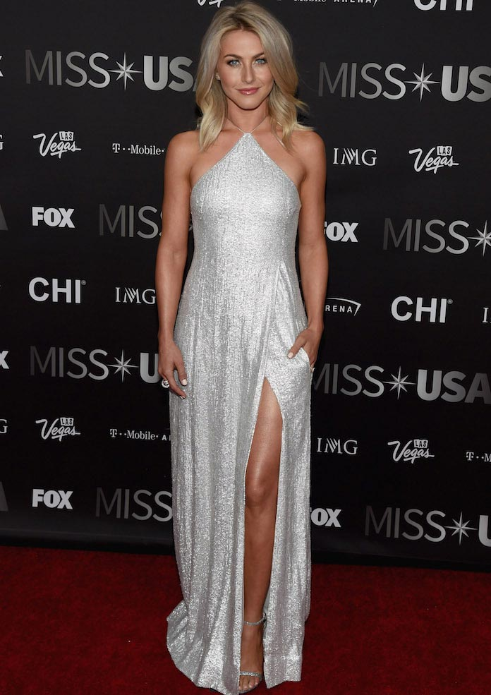 Julianne Hough Wows In Metallic Gown On Miss USA Red Carpet
