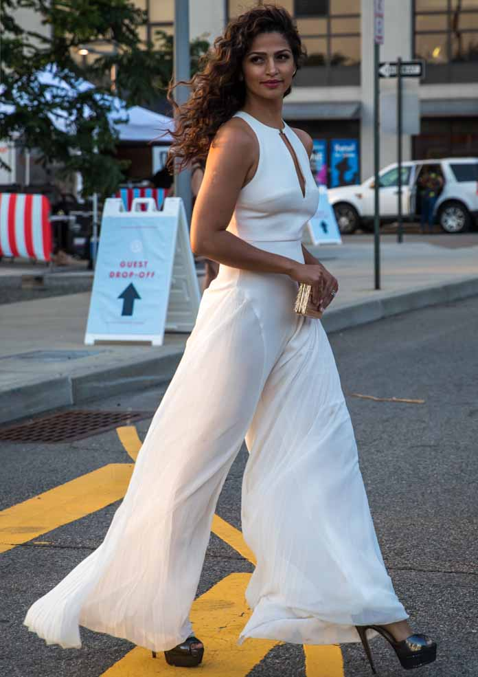 Get The Look: Camila Alves' Sweet And Sultry In White Jumpsuit