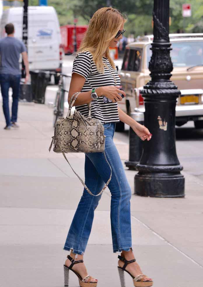Get The Look Heidi Klum Exudes Casual Chic In Tribeca