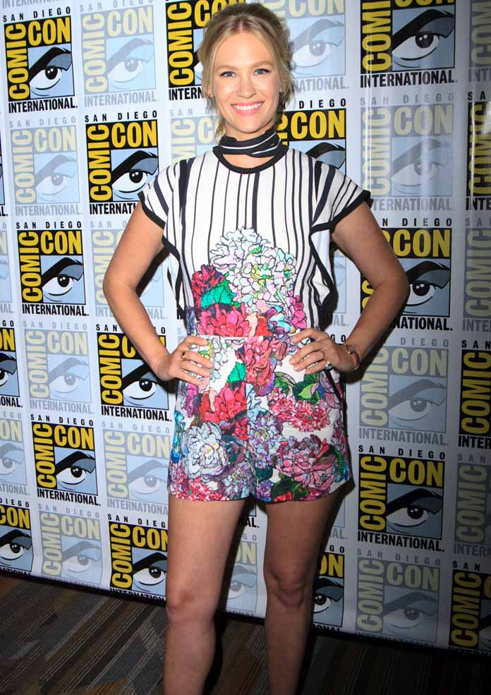 Get The Look: January Jones' Floral Romper Is All The Rage At Comic-Con 2016