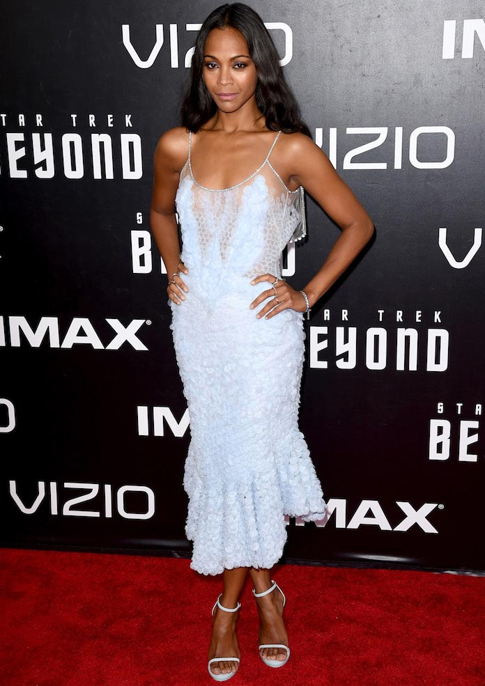 Zoe Saldana Stuns At 'Star Trek Beyond' Premiere In Givenchy