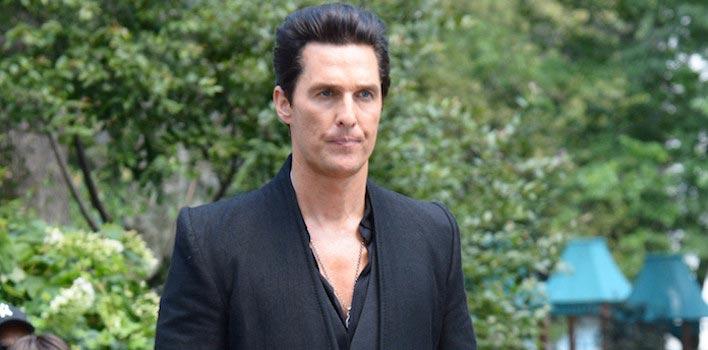 Matthew McConaughey Debuts Black Hair On 'Dark Tower' Set