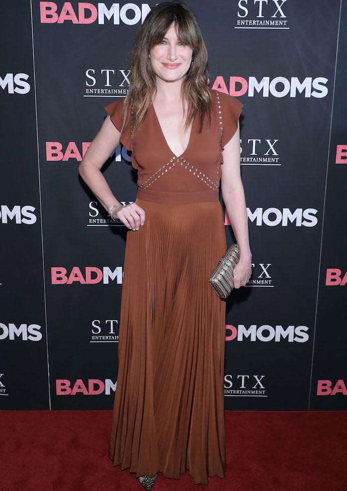 Kathryn Hahn Rocks A.L.C. Dress To 'Bad Moms' NYC Screening