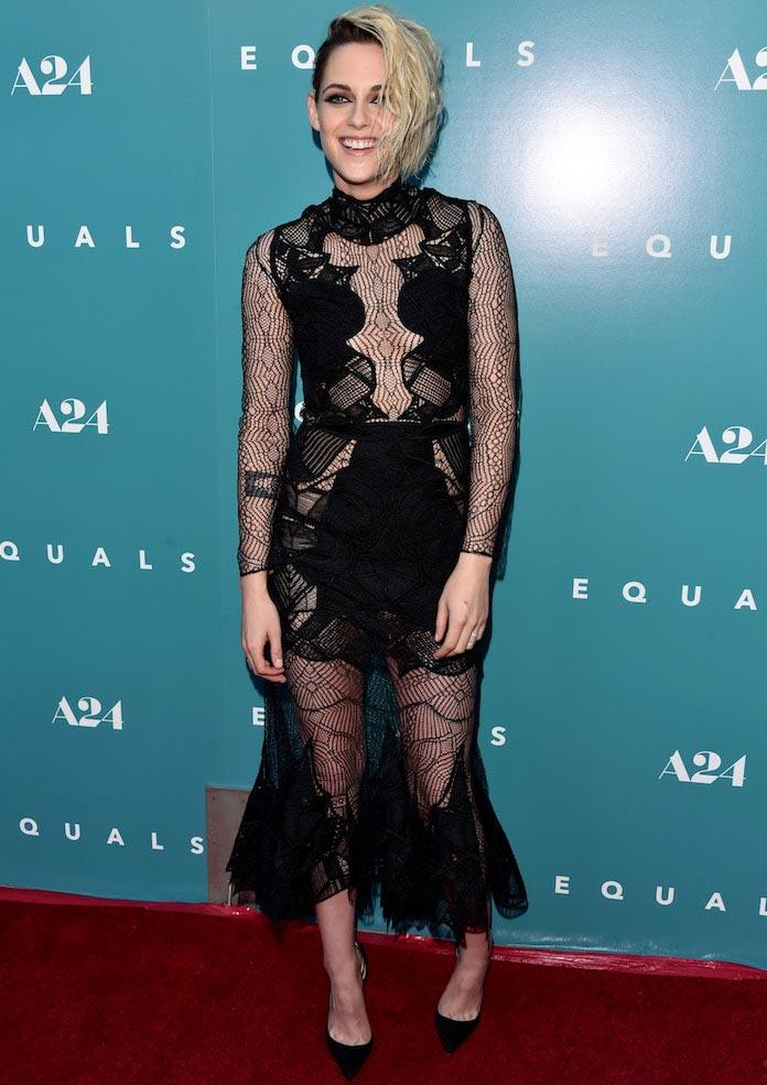 Kristen Stewart Stuns In Jonathan Simkhai At 'Equals' Premiere