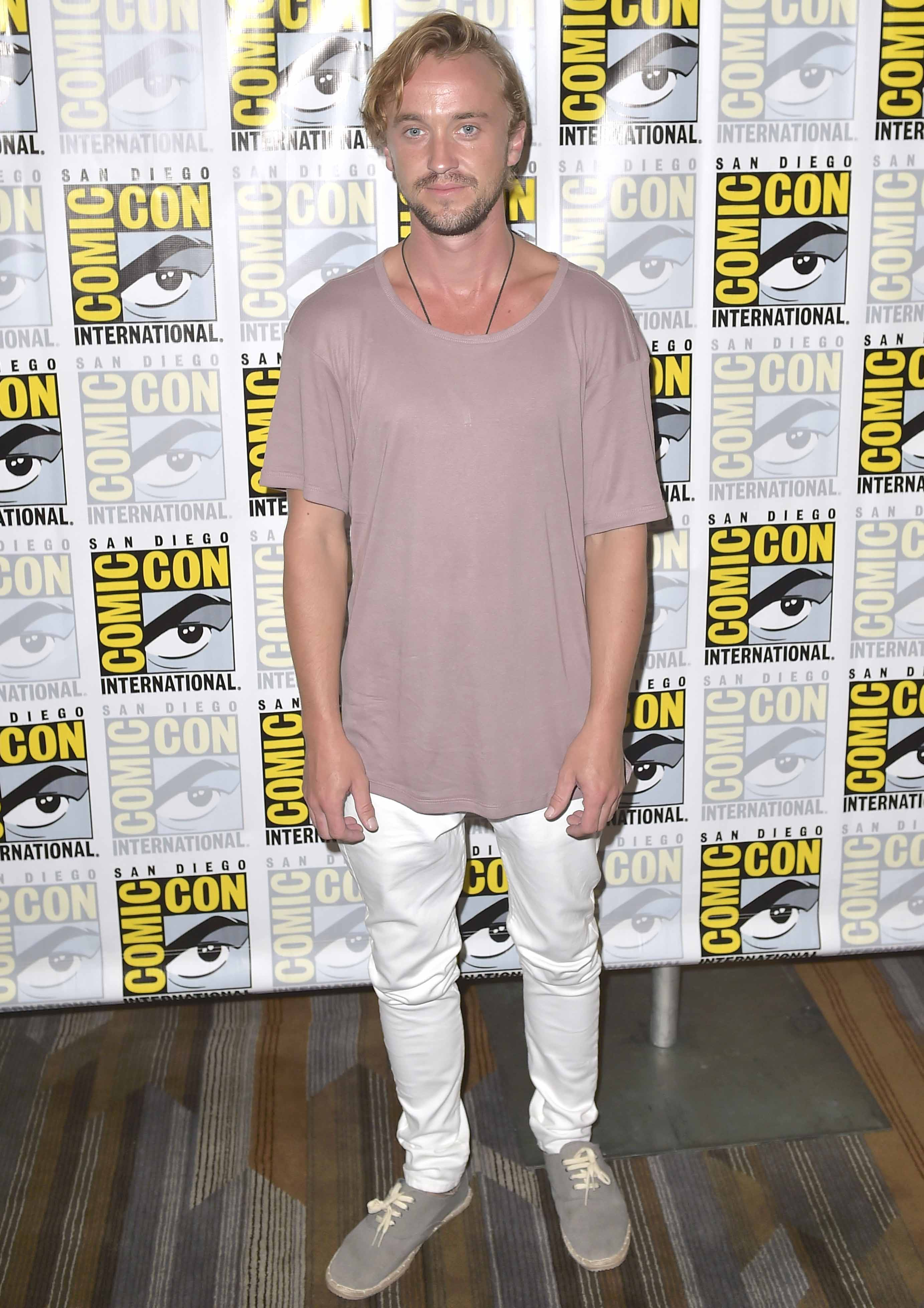 Get The Look: Tom Felton's Casual Cool Look At Comic-Con 2016