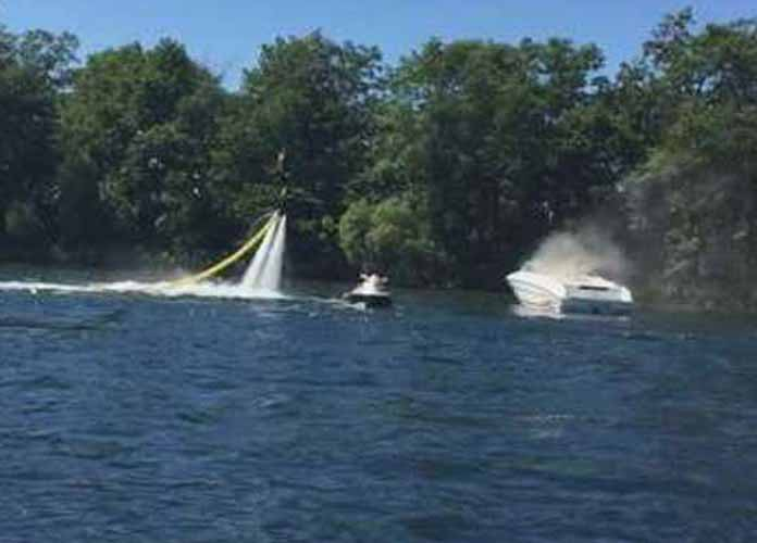Jesse Gavic Extinguishes Boat Fire With Flyboard [WATCH VIDEO]