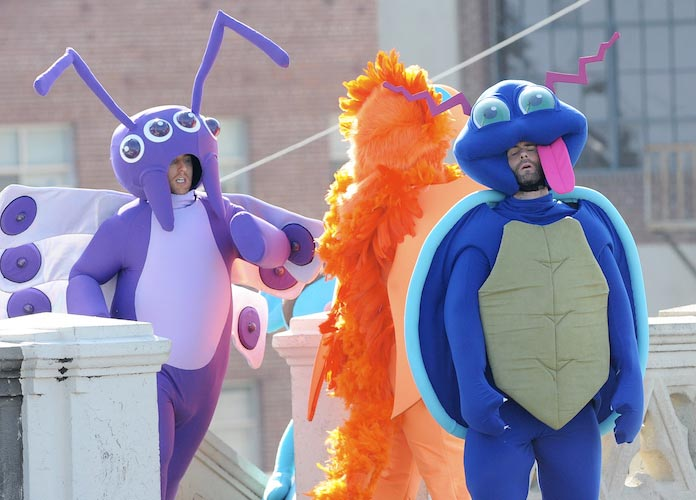 Maroon 5 Dresses Up Like Pokemon For Music Video Shoot In Los Angeles