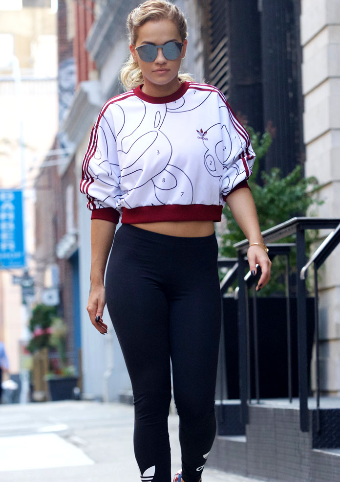 Get The Look: Rita Ora Goes Sporty In New York, Shows Off Her New Line With Adidas