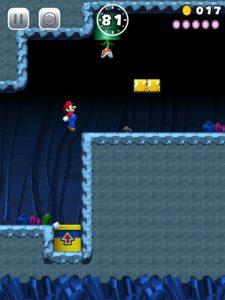 Mario and a Piranha Plant in Super Mario Run (iPad Pro)