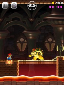 Mario vs. Bowser in Super Mario Run (iPad Pro)