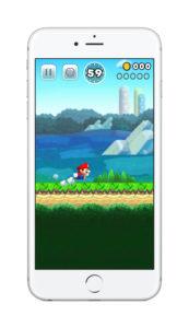 Mario in Super Mario Run (iPhone 6s)