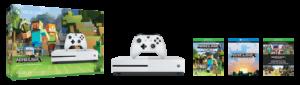 Xbox One S Minecraft Favorites Bundle's contents