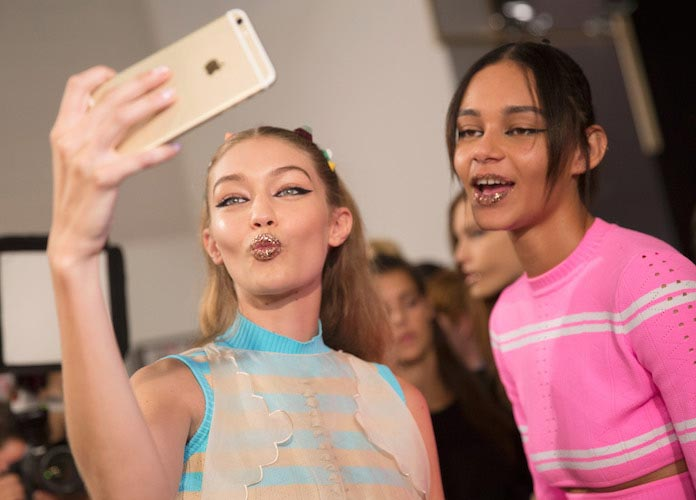 Gigi Hadid Takes Selfies In Milan Day After Vitalii Sediuk Incident