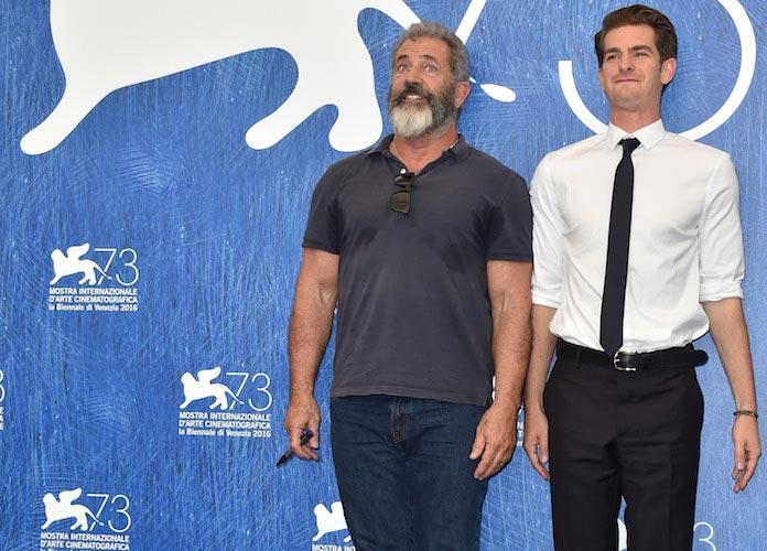 Mel Gibson & Andrew Garfield Attend 'Hacksaw Ridge' Photocall In Venice