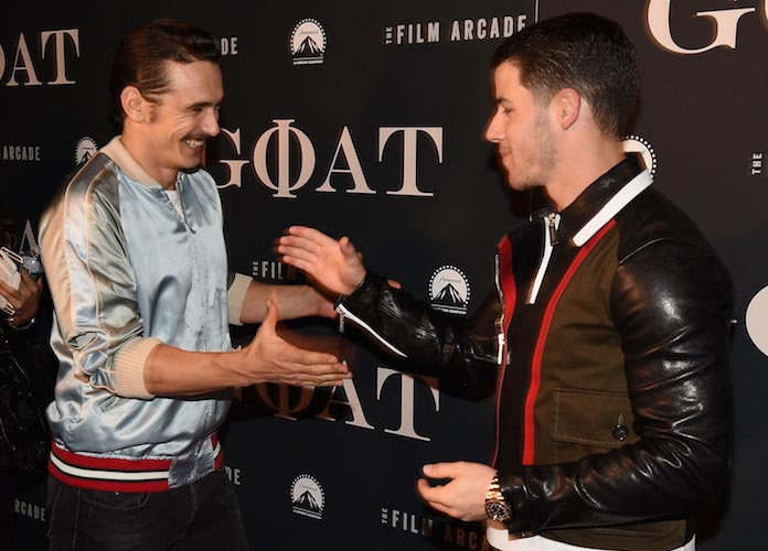 James Franco And Nick Jonas Reunite At 'Goat' Premiere