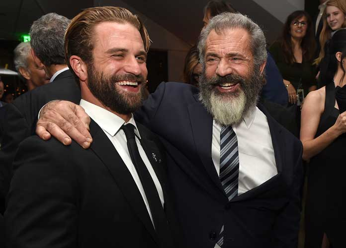 Mel Gibson Poses With Look-Alike Son Milo Gibson At 'Hacksaw Ridge' After Party