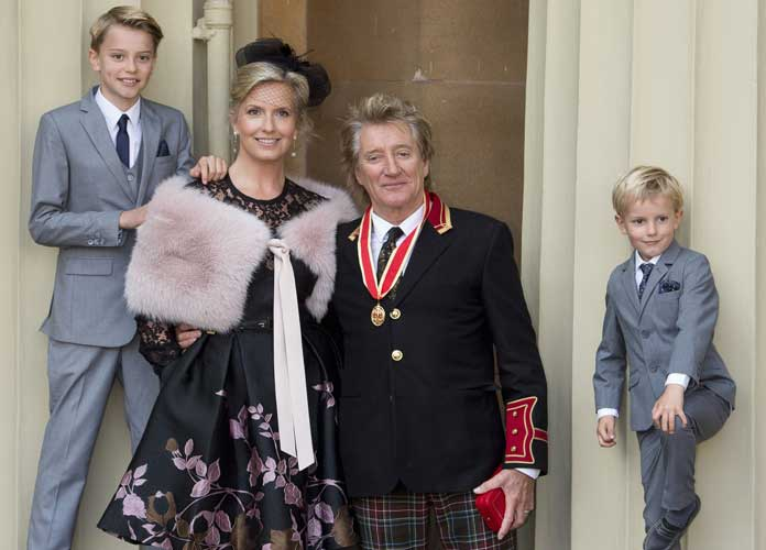 Rod Stewart Gets Knighted By Prince William