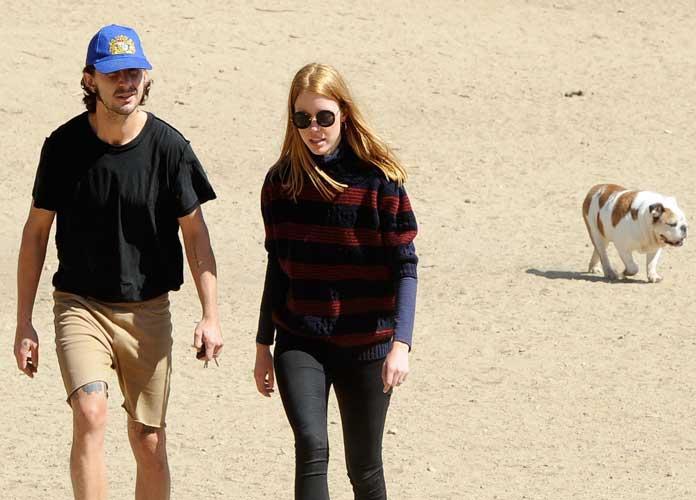 Shia LaBeouf And Mia Goth Spotted Walking Their Bulldog Brando
