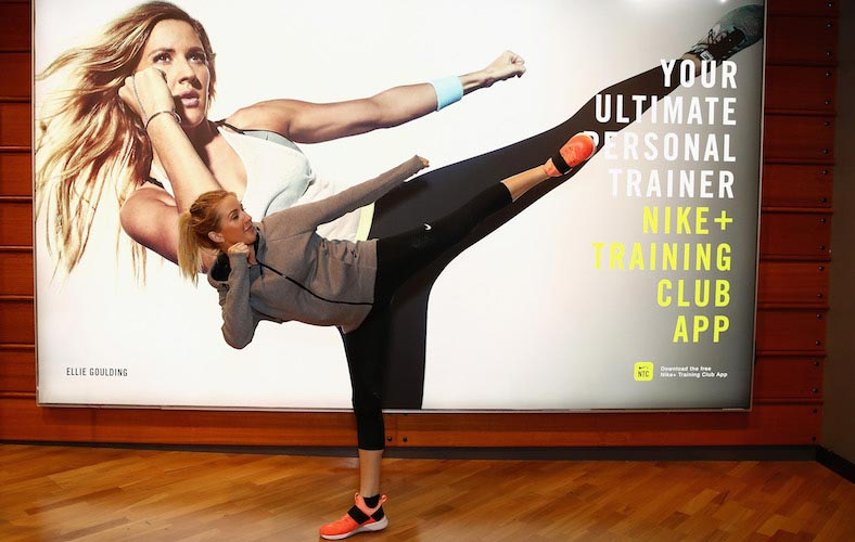 Ellie Goulding Joined Nike+ Training Club In Sydney