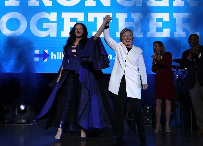 Katy Perry Performs For Hillary Clinton Rally In Philadelphia