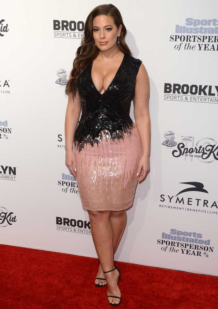 Ashley Graham Sparkles In Sequins At The 'Sports Illustrated' Awards