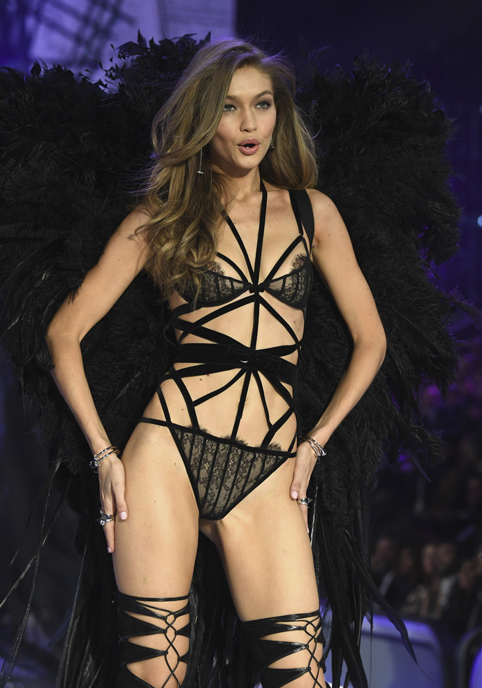 Gigi Hadid walks the runway at the Victoria's Secret Fashion Show