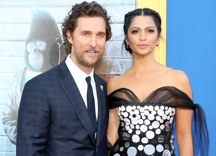 Matthew McConaughey And Camila Alves Attend Premiere Of 'Sing'