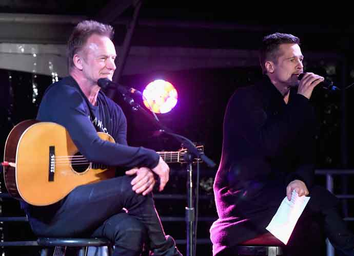 Brad Pitt Makes Rare Appearance At ROCK4EB! Event With Sting