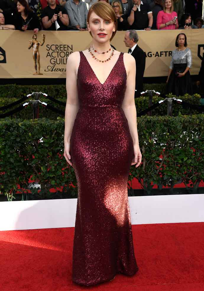 Bryce Dallas Howard Looks Fab In $309 Off-The-Rack Dress At SAG Awards