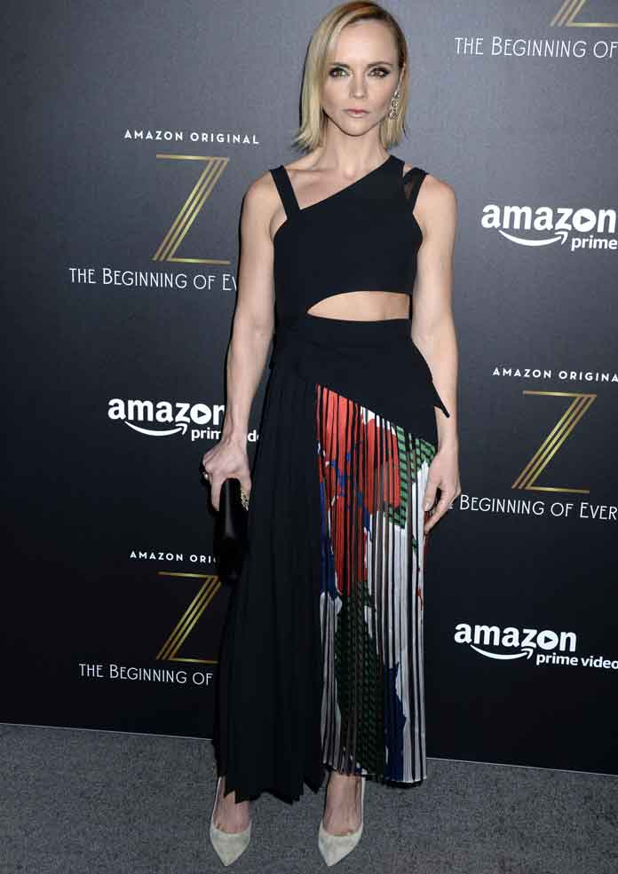 Christina Ricci Wears Boss Dress At 'Z: The Beginning Of Everything' Premiere