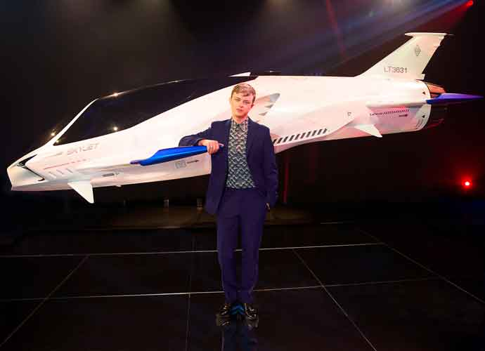Dane DeHaan, 'Valerian And The City Of A Thousand Planets' Star, Poses With Lexus SKYJET Prop