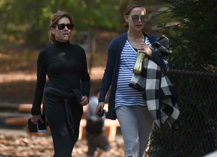 Pregnant Natalie Portman Takes Leisurely Afternoon Walk With A Friend