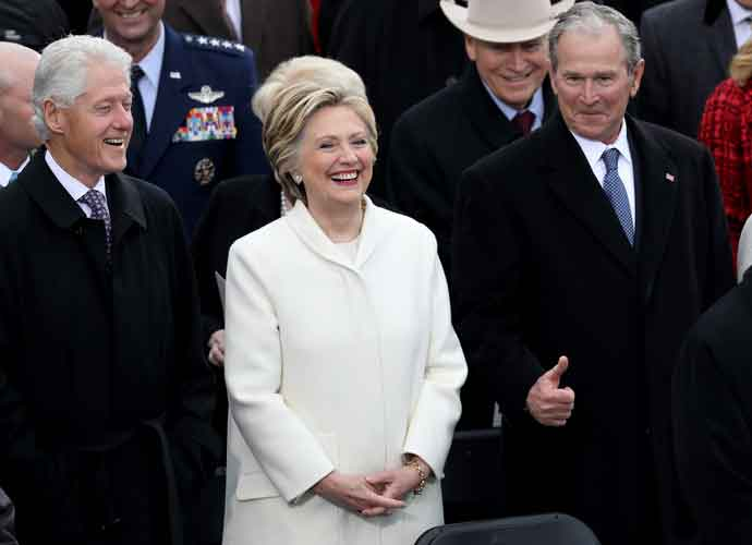 Hillary Clinton Looks On From Crowd As Donald Trump Is Sworn In