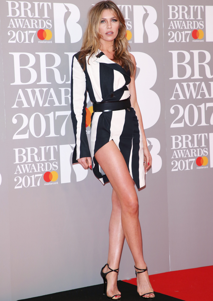 Abbey Clancy Suffers Wardrobe Malfunction At BRIT Awards