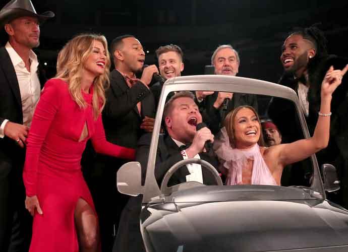 2017 Grammys: James Corden Leads Keith Urban, John Legend, Jennifer Lopez In 'Sweet Caroline' Carpool Karaoke