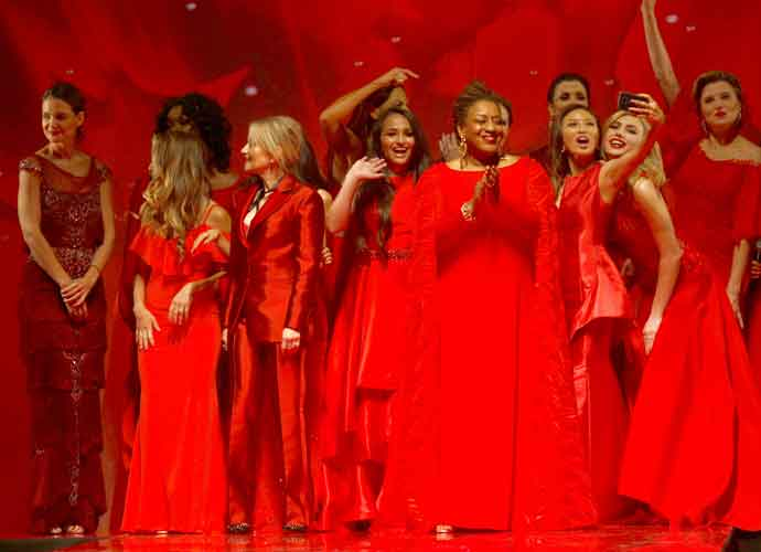 Katie Holmes Hosts Macy's Go Red For Women Red Dress Collection Show