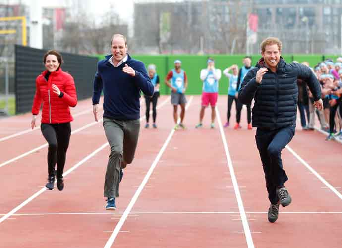 Prince William, Princess Kate And Prince Harry Race For Charity