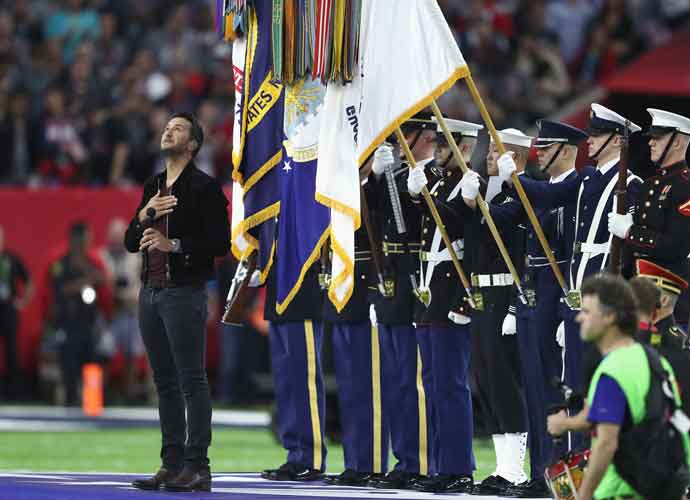 Luke Bryan Performs National Anthem At Super Bowl LI [VIDEO]