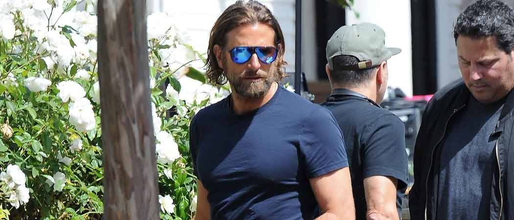 Bradley Cooper Sports Long Hair On Set Of 'A Star Is Born'