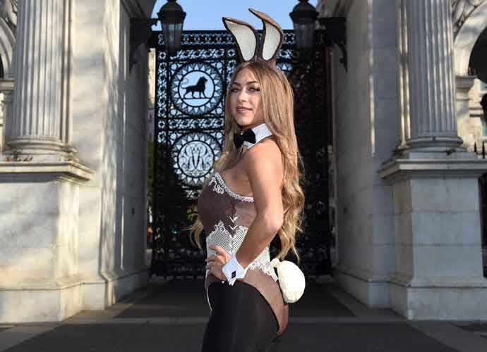 Playboy Bunny Dresses In Edible Chocolate Suit In Honor Of Easter In London