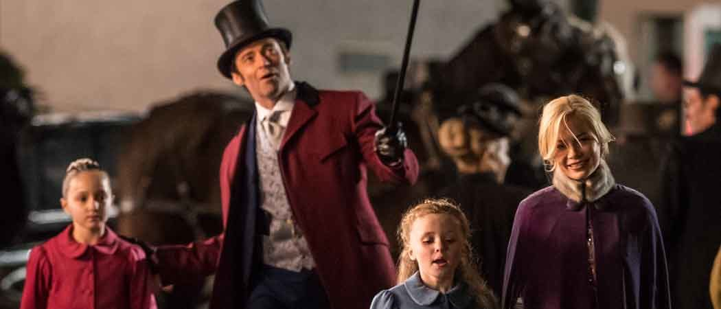 Hugh Jackman & Michelle Williams Film 'The Greatest Showman On Earth'