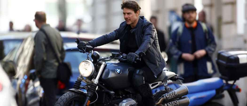 Tom Cruise Films 'Mission Impossible 6' In Paris