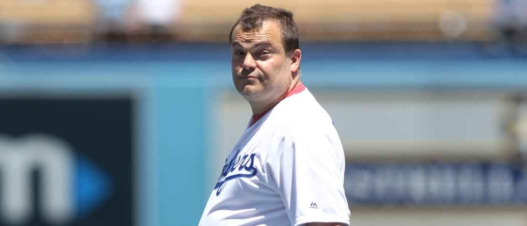 Jack Black Throws Out First Pitch At Dodger Stadium [VIDEO]