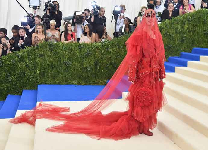 Katy Perry Wears Red Maison Margiela Gown To Met Gala, Internet Responds