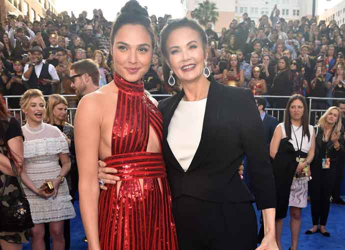 Gal Godot & Lynda Carter Hug On The Red Carpet At 'Wonder Woman' Premiere