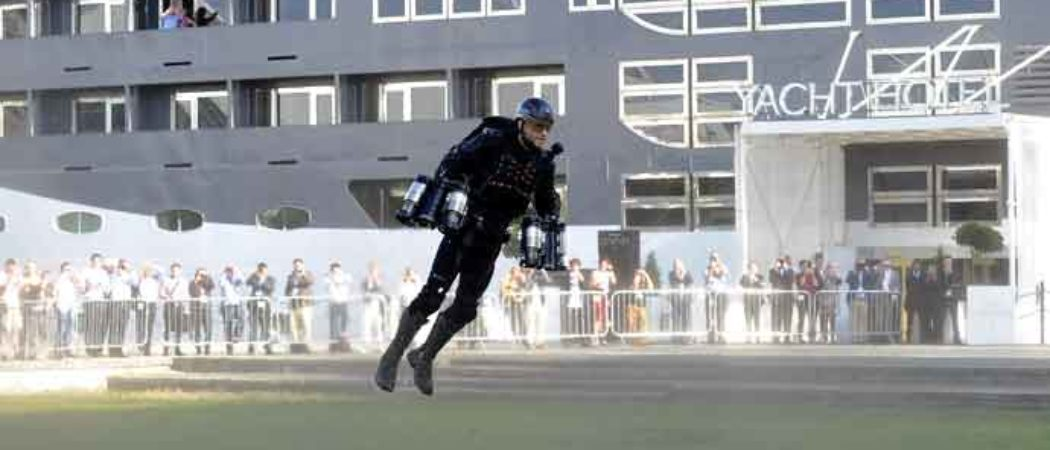 Richard Browning Shows Off Jet Suit At London Tech Week